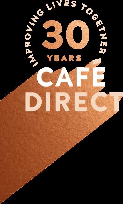 logo: Cafe Direct - 30 years improving lives together