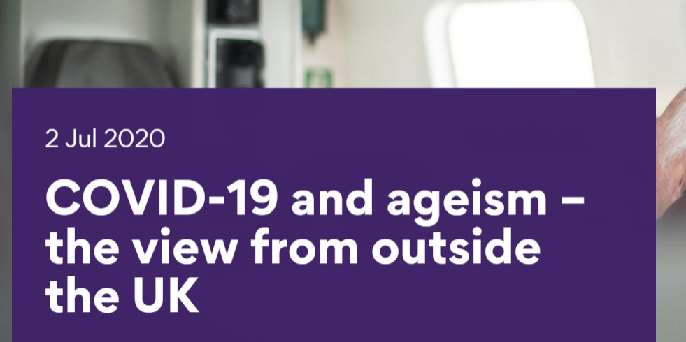 Headline - Covid-19 and ageism - the view from outside the UK